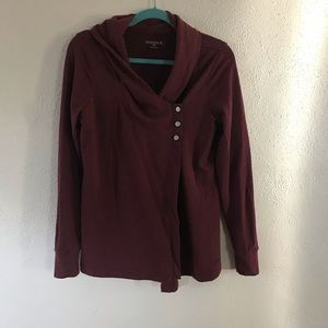 French Terry Side Snap Cardigan